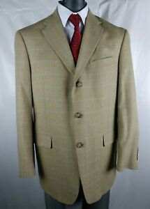 Austin Reed London England Men S 42r Blazer Plaid Jacket 100 Wool Sport Coat Ebay