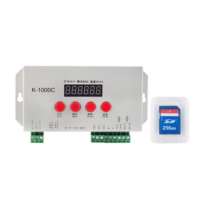 K-1000C (T-1000S Updated ) LED Strip Program Controller 2048 Pixels DC524V DE