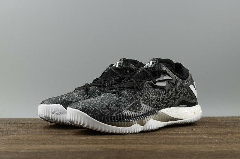 Mens Adidas Crazylight Boost Low 2018 Black Basketball Shoes Adidas B42722 NEW