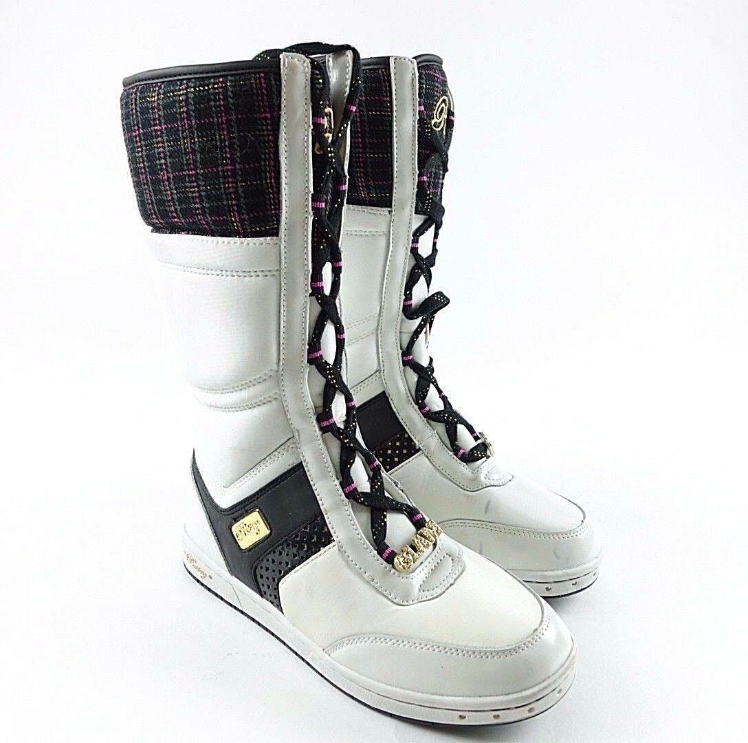 Pastry Glam Pie Womens White Winter Boots Size 7.5 Blemishes