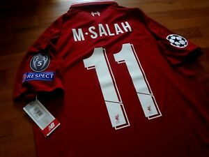 new product 3a156 22e46 Details about Authentic 2018/19 Liverpool Home Jersey Salah Med Champions  League Final Details