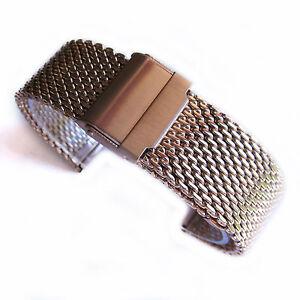 Bracelet Titre Mailles Acier 22mm Or Rose Montre Qualité Sur 18 Serpent Détails 20 Premium Afficher Le D'origine Maille htrdsQCxB