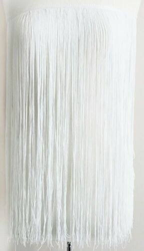 white-sold by yards chainette fringe trim 36 inches