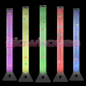 Grande-100-cm-Color-Cambiante-LED-Lampara-de-tubo-de-burbuja-sensorial-piso-de-Agua-del-estado-de