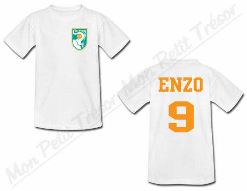 T-shirt Adulte Football Côte d/'Ivoire avec Prénom Personnalisé du S au 2XL