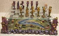Chess Set With Glass Board Pewter Mystical Fairies