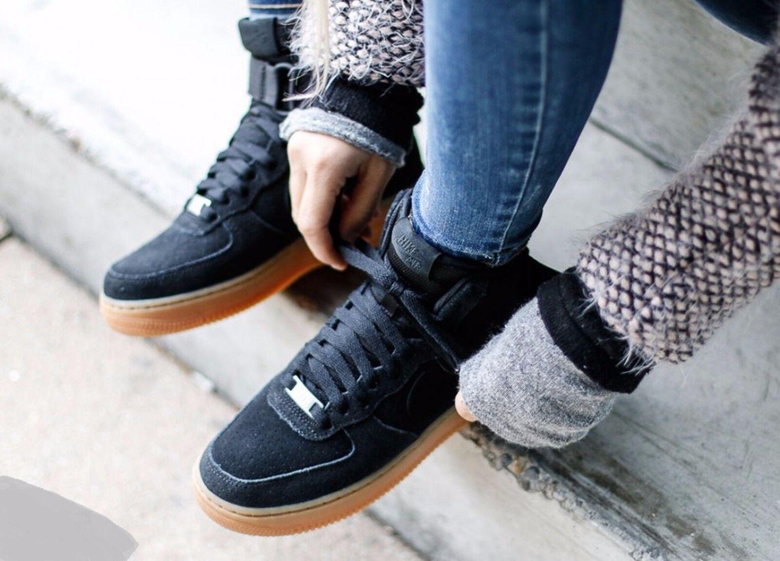 """Nike Air Force 1 High """"Black Suede Gum"""