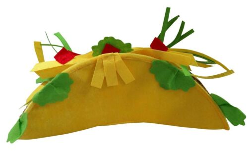Unisex Mexican Taco Hat Taco Headband Couples Group Fast Food Vendor Costumes