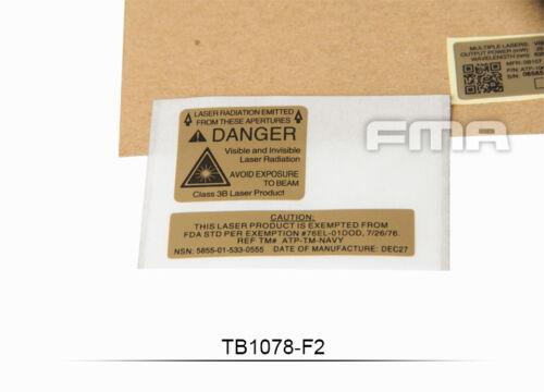 FMA Paintbal Custom Decals Sticker F1//F2//F3 For PEQ-15 LA-5 Battery Case TB1078