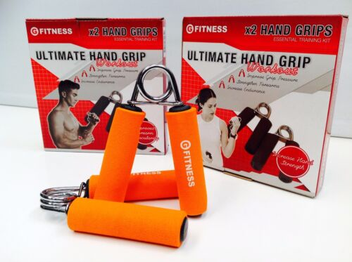 LOT OF 3 x HAND GRIPS x2 STRENGTH FOREARM TRAINING EXERCISE FITNESS INJURY