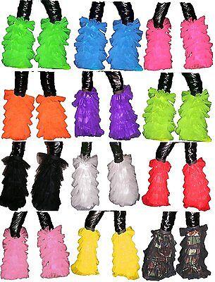 Uv Neon Dance Tutu Fluffy Legwarmer Leg Warmer Boot Cover Halloween Party Prom