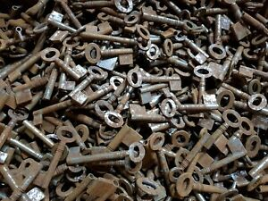 1 x Old Antique Vintage Key DIY UNCUT BLANKs Ward Hollow Barrel Keys MANY SIZES