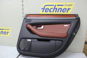 Tuerverkleidung-Tuerpappe-HR-Rechts-Audi-A8-4E-4E0868066A-Leder-Sattelbraun