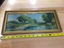 Vintage Framed R. Atkinson Fox Lithograph Prints - Landscape - Nature - Deer