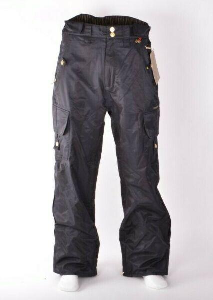 2009 Nwt Uomo Foursquare Oro Etichetta Neve Pantaloni M Nero 15k Impermeabile