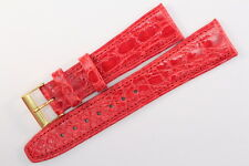 FORTIS Uhrenarmband 20mm Rot Kalbsleder mit Krokodil-Narbung