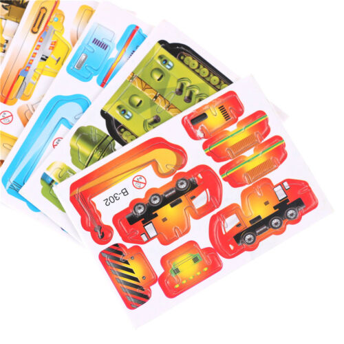 5Set Paper Tank Engineering 3D Puzzles Jigsaw Toys For Kids DIY Craft RDR