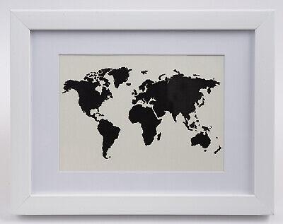 Stetig Geldgeschenk Weltkarte Im Bilderrahmen, Hochzeitsgeschenk, Geburtstag Perlweiss