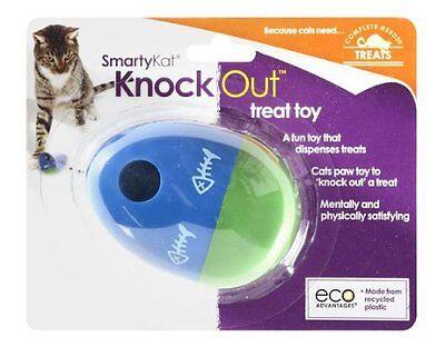 NEW SmartyKat Knockout Treat Food Dispensing Cat Kitten Toy Wobbles Egg Shaped