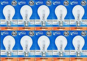 10-x-60W-Clear-Light-Globes-Bulbs-B22-Bayonet-Halogen-Warm-White-Dimmable-A60