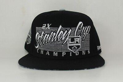 Los Angeles LA Kings Reebok 2X Stanley Cup Champions Script Snapback Hat