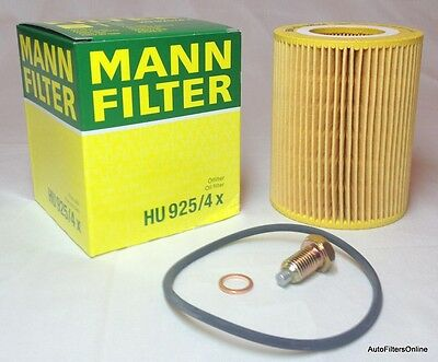 BMW OEM MANN Oil Filter Kit & Magnetic Oil Drain Plug Z3 2.3 2.5 2.8 3.0 Coupe