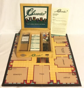 Cluedo-Wooden-Box-Edition-Board-Game-2003-Parker-Nostalgia-Series-100-Complete