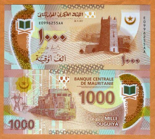 UNC /> POLYMER P-New 1000 Ouguiya Mauritania Revalued />Train 2018 2017