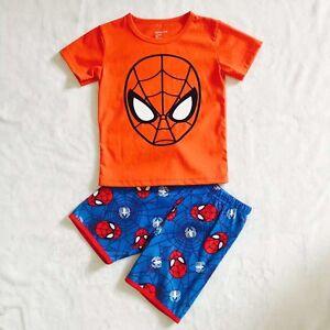 2pcs-Boys-Kids-Toddler-T-shirt-and-Pants-Outfits-Pajamas-Clothing-sets-spiderman