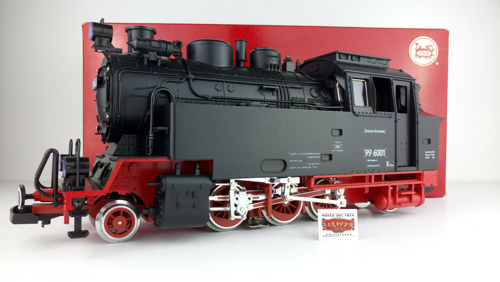 LGB 22801 Steam Locomotive BR 99 6001 Dr with Smoke Generator  - AS NEW  - TOP