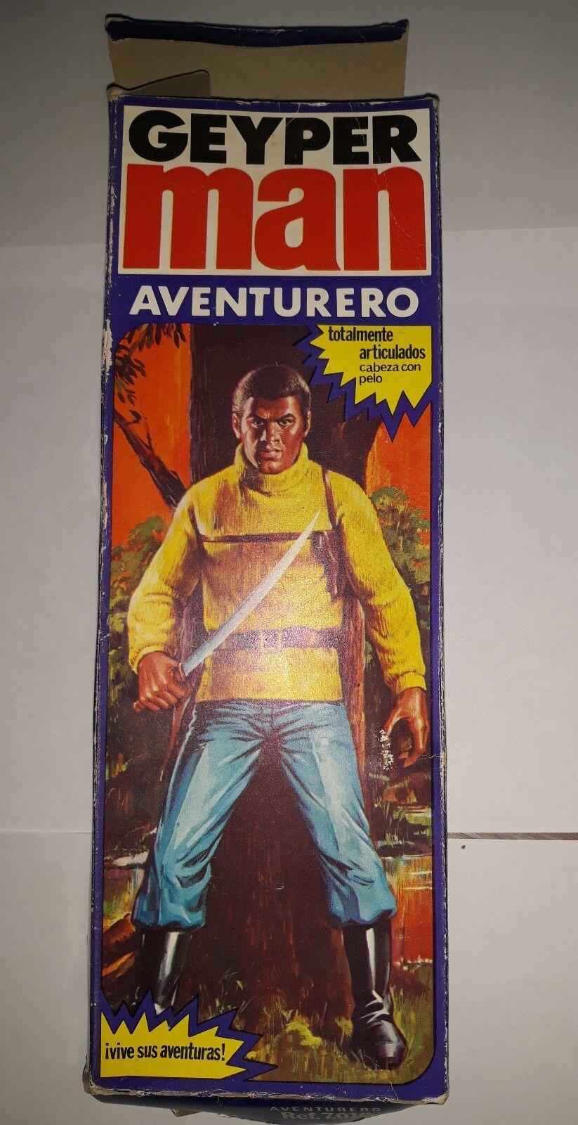 GEYPERMAN adventurero doll 1975 véritable Figure faite en Espagne, action man vintage