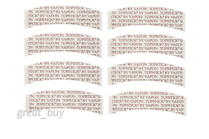 VAPON-TOPSTICK-Plus-Custom-Cut-Front-034-A-Curve-034-Tape-50-Strips-Clear-Double-sided