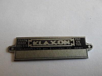 2019 Ultimo Disegno Scudo Piastra Auto D'epoca Clacson Tromba Klaxon England Klaxxon S20