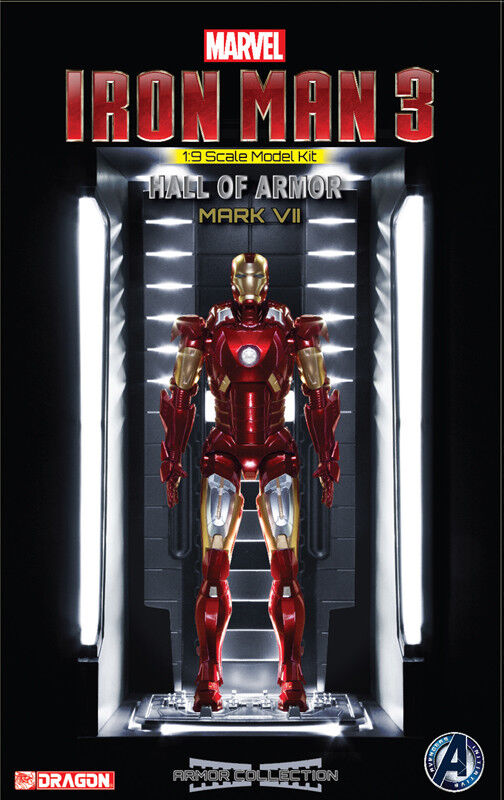 Dragon Models 1 9 Iron Man 3 - Hall of Armor Mk 7