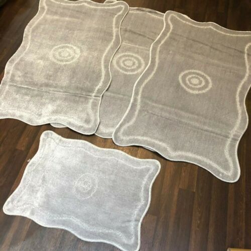 ROMANY GYPSY WASHABLES FULL SETS OF MATS//RUGS 75X125CM SIZE NON SLIP SILVER//GREY
