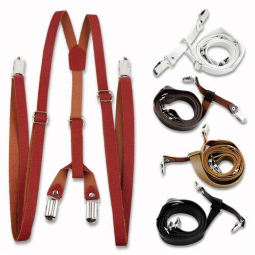 Cute Suspender Adult Brace Adjustable Boys Girls Clip-on Y Back Elastic Brace
