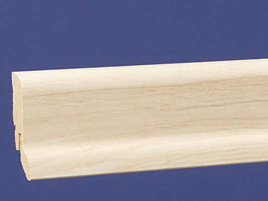 Sockelleiste 58 mm Clipsystem Dekor Ahorn