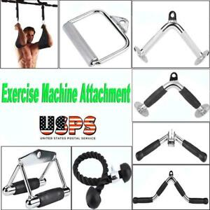 Home-Gym-Attachments-Exercise-Machine-Triceps-Rope-Cable-V-Pull-Up-Bar-D-Handle