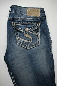 Silver-Suki-Bootcut-Flap-Pocket-Womens-Jeans-Sz-29-x-30