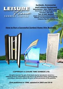 Details about Business Start Up Opportunity - Sunbed Home Hire Business  Booklet - How to guide