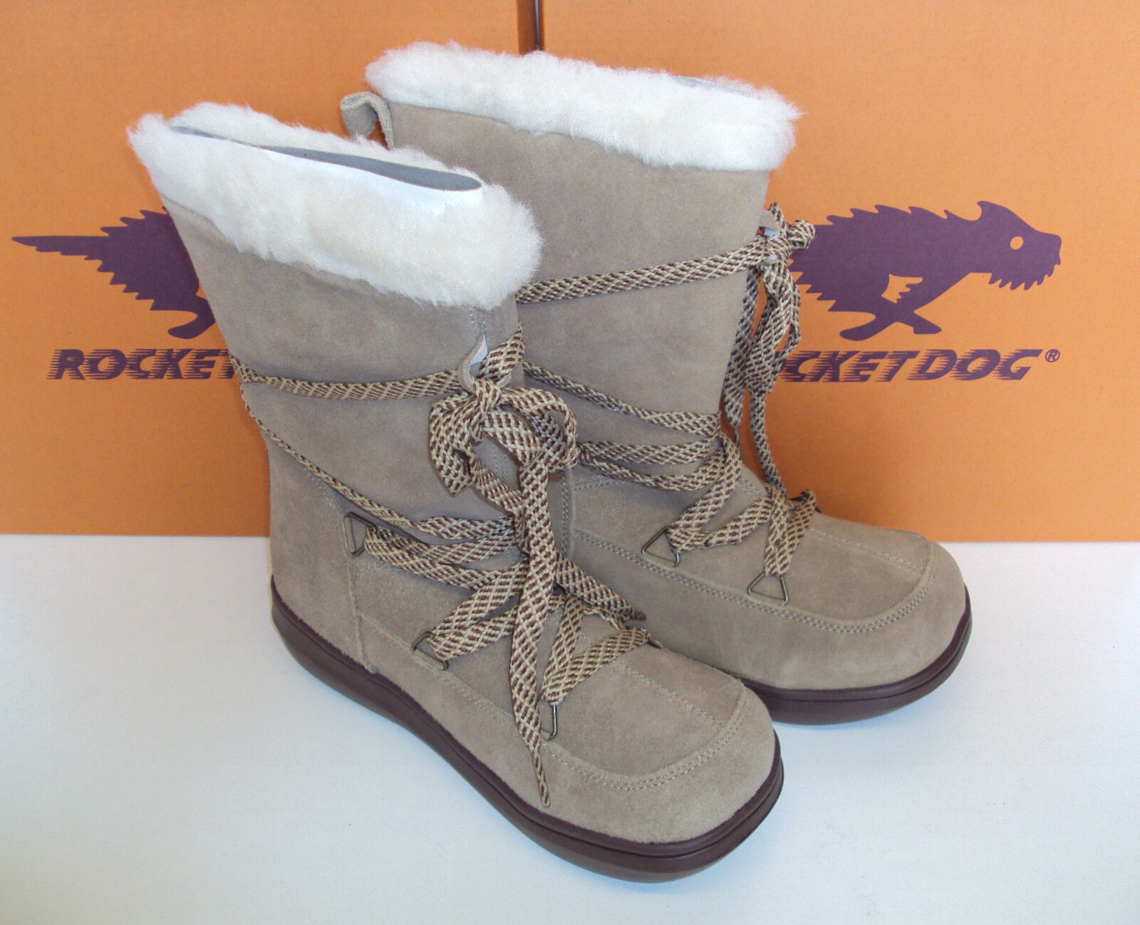 Rocket Dog Ladies Sand Suede Boots Leather Fur Lined Snowcrush New UK Size 3-8