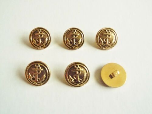 COAT ANCHOR BUTTONS 22mm 6 LARGE CLASSIC  GOLD BLAZER TYPE DRESS