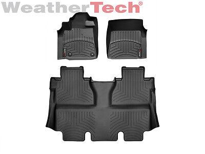 WeatherTech Floor Mats FloorLiner for Toyota Tundra CrewMax - 2014-2018 - Black