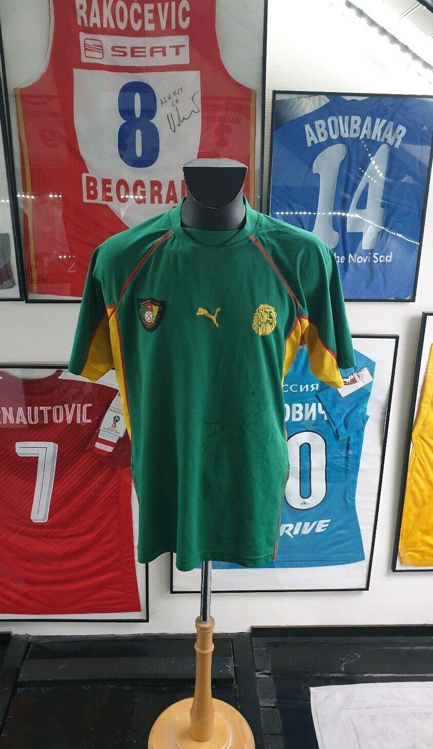 Maillot Trikot Camisa Camiseta  Cameroon Camerún Eto o 1998 1999 2000 99  genuina alta calidad