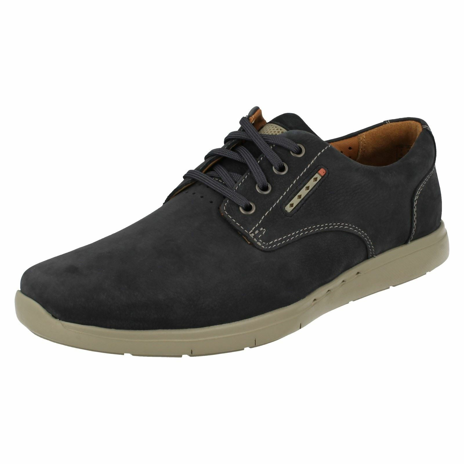 Mens Clarks Unstructured Casual Lace Up shoes 'Unlomac Edge'