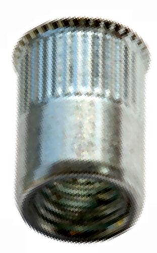 M6 0.5-3.0 mm 250 Stück Blindnietmuttern Kleiner Mini Senkkopf Offen Aluminium