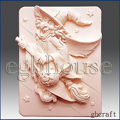 2D Silicone Soap/Plaster/Polymer Clay Mold - Whatta Witch!