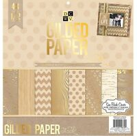 Dcwv the Gilded Paper Stack 12 X 12 Scrapbook Paper Pad
