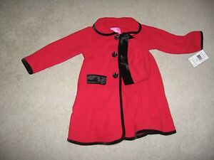 Outerwear Special Section Toddler Girl's Good Lad 2 Piece Red Fleece Dressy Coat And Hat Sz 6 Nwt
