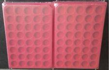 LOT 10 BOX - PLATEAUX DE RANGEMENT EN FEUTRINE POUR CAPSULES 40 CASES RONDES
